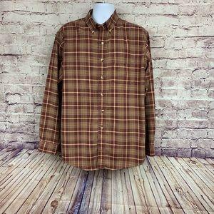 L.L. Bean Plaid Button Front Shirt